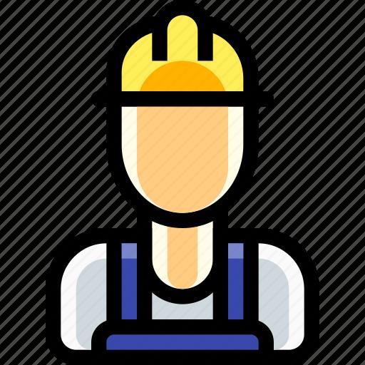 laborer, labourer, male, man, person, work, worker icon