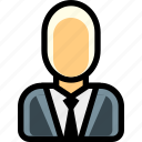 business man, ceo, gentleman, male, man, person, suit icon