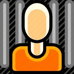 convict, crime, inmate, jailbird, person, prisioner icon