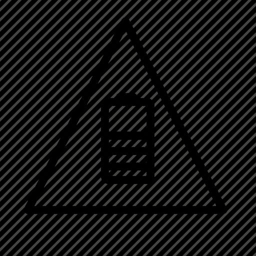 battery, warning icon