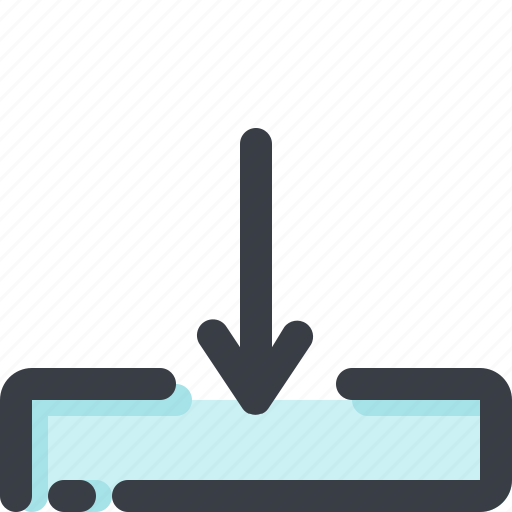 arrow, cloud, database, down, download, pointer, server icon