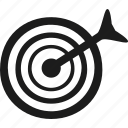 bullseye, goal, precision, target icon
