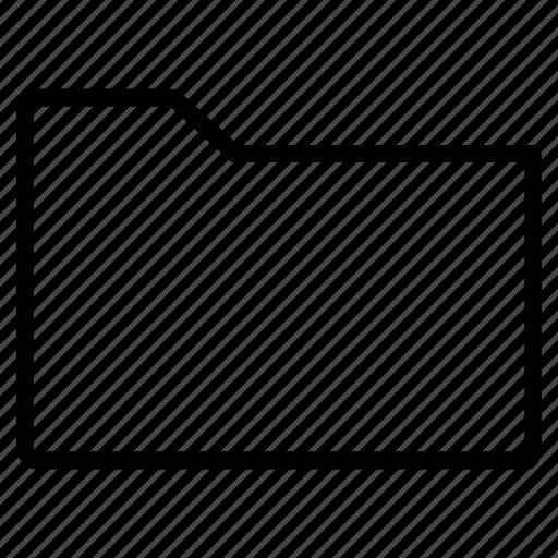 blank, empty, folder, line icon
