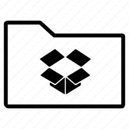 dropbox, folder, line icon