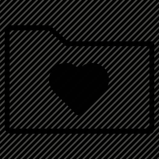 bookmark, favorite, favorites, favourite, folder, line, love icon