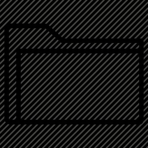 folder, inner, line, open icon