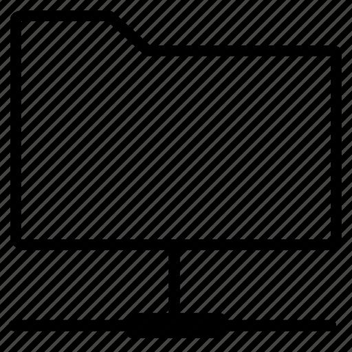 folder, lan, line, network icon