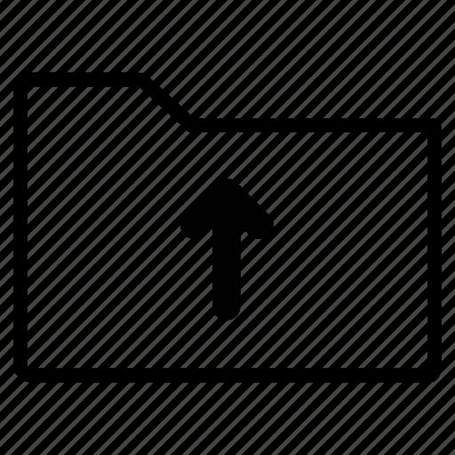 arrow, folder, line, up, upload icon