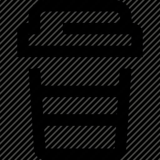 cappuccino, coffee, coffee shop, latte, mug, to go icon
