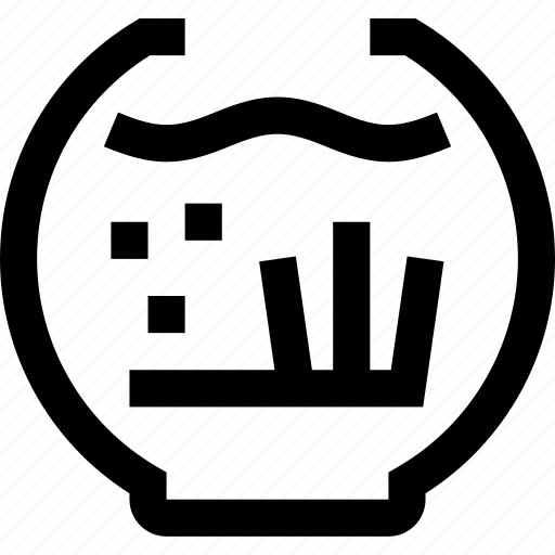 aquarium, fish, fish bowl, gold fish, seaweed, underwater icon