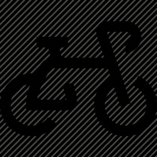 bicycle, bike, cycling, cyclist, wheeling icon