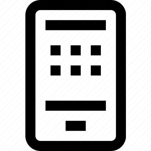 cell phone, cellular, device, mobile, phone icon