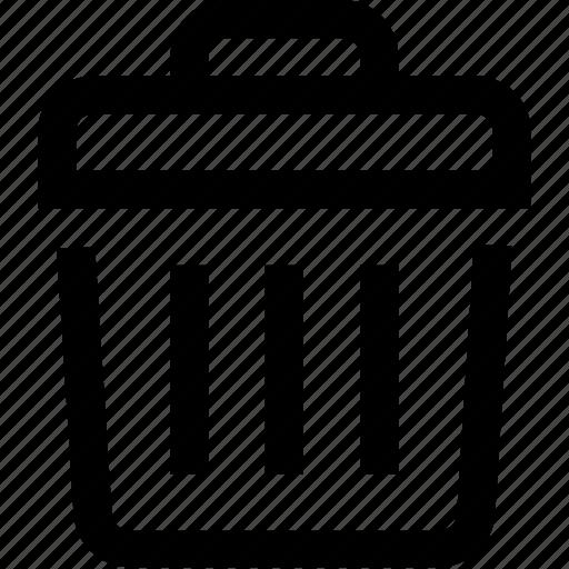can, delete, garbage, refuse, trash, waste icon