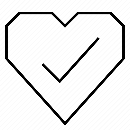 cardio, check, checkmark, favorite, health, heart, hearts icon