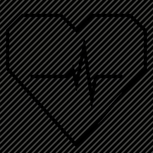 cardio, fitness, health, heart, heart rate, hearts, pulse icon