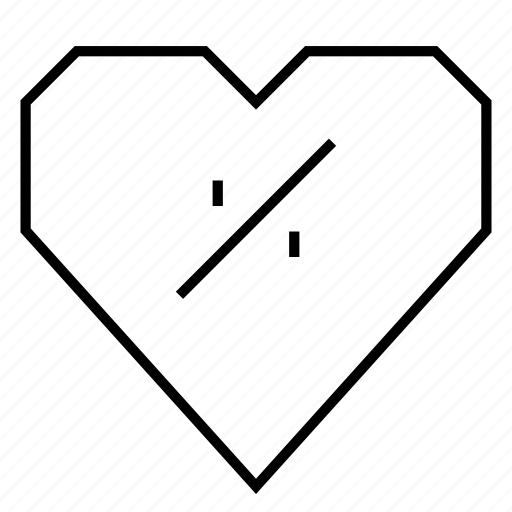 emotion, health, heart, hearts, love, percent, percentage icon