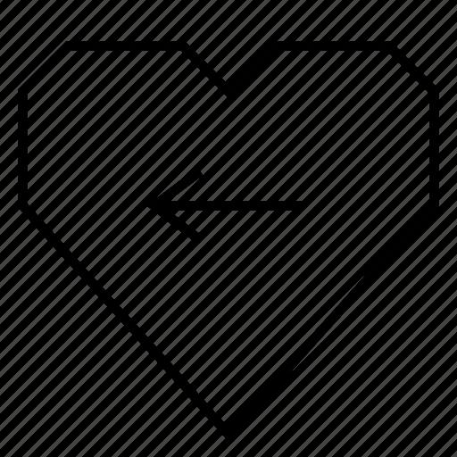 heart, hearts, left, left arrow, like, love, move icon