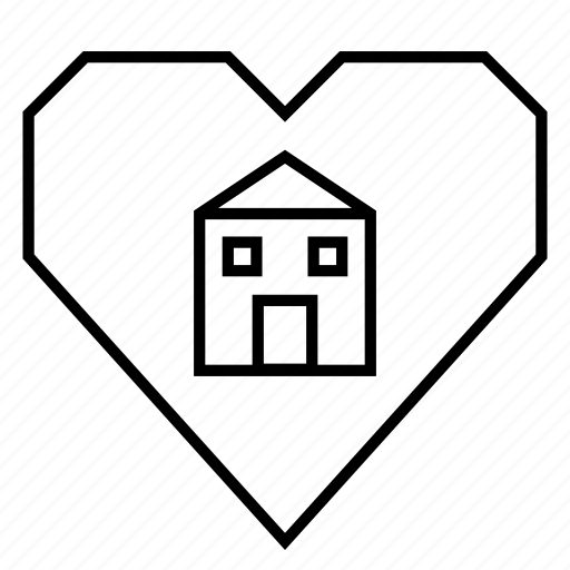 building, heart, hearts, home, home buying, house, realty icon