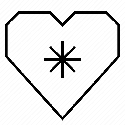 asterisk, dating, emotion, favorite, heart, hearts, love icon