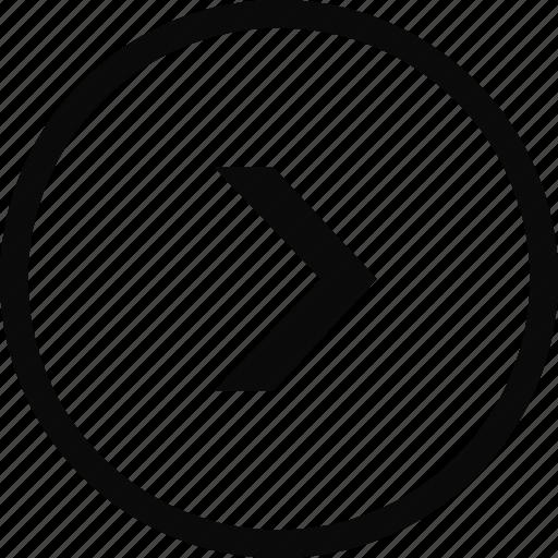 arrow, circle, interface, next, right icon