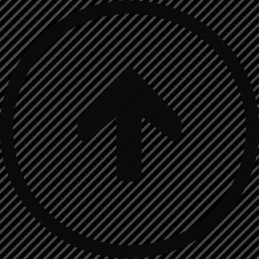 arrow, circle, interface, up icon
