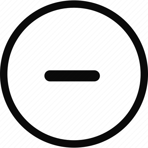 circle, interface, minimize icon