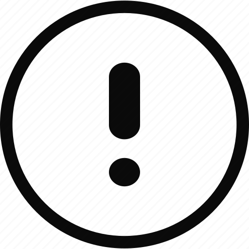 circle, exclamation, exclamation point, interface icon