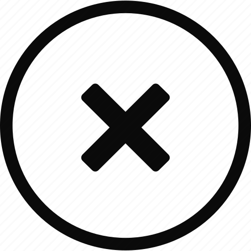 circle, close, delete, interface icon