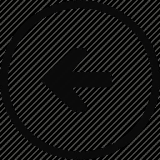 arrow, back, circle, interface, left icon