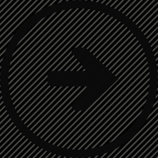 arrow, circe, interface, next, right icon