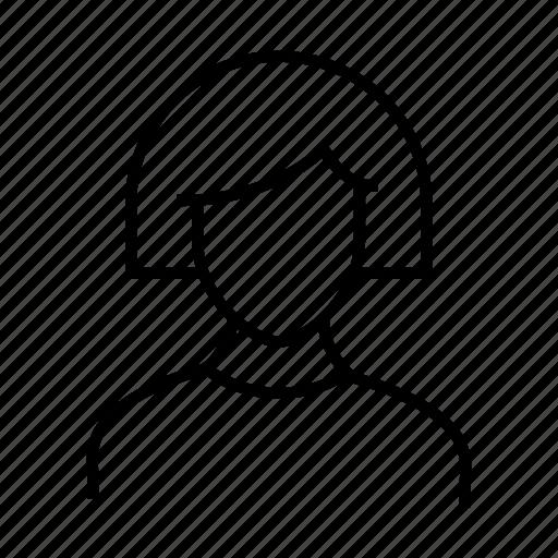 avatar, person, profile, user, woman icon