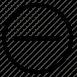 close, minimise, negative icon