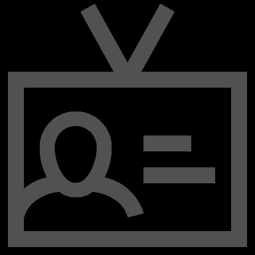 badge, data, id, identification, profile, user icon