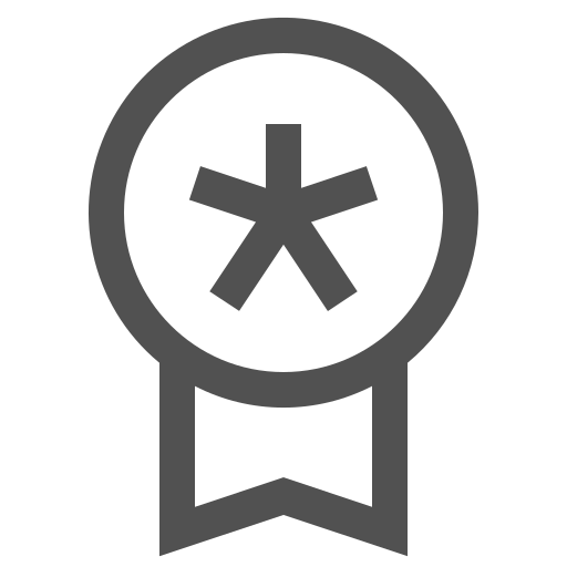 badge, favorite, medal, reward, star icon