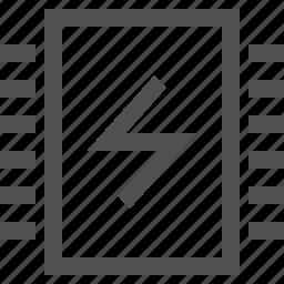 charge, chip, electronics, micro, microprocessor, processor icon