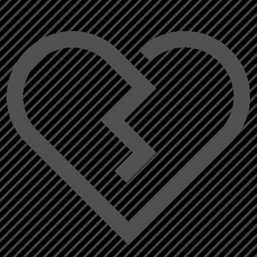 broken, hate, heart, love, sad, unlike icon
