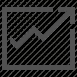chart, graph, income, line, math, table icon
