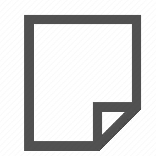 blank, document, note, page, paper, text, words icon