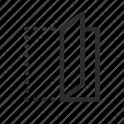 copy, fold, paper, paper fold, reading, reflect icon