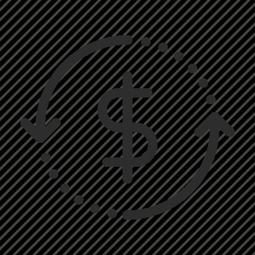 back, cash, ecommerce, finance, guarantee, money, shopping icon