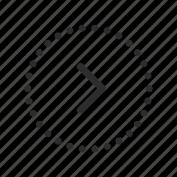 arrow, continue, direction, forward, move, next, right icon
