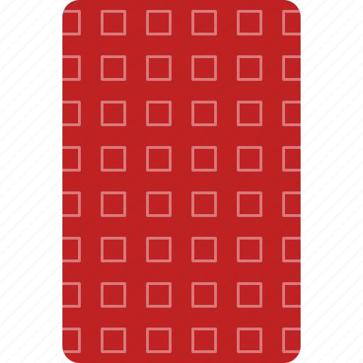 back, card, casino, deck, playing, red icon