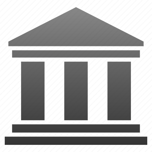 bank, banking, building, classic, library, museum, office icon
