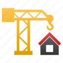build, building crane, construct, construction, develop, development, structure icon