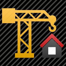 build, building crane, construct, construction, develop, development, structure icon