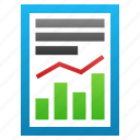 analysis, chart, graph, progress, sales, statistics, stock charts icon