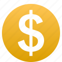 account, cash, coin, dollar, finance, money, payment icon