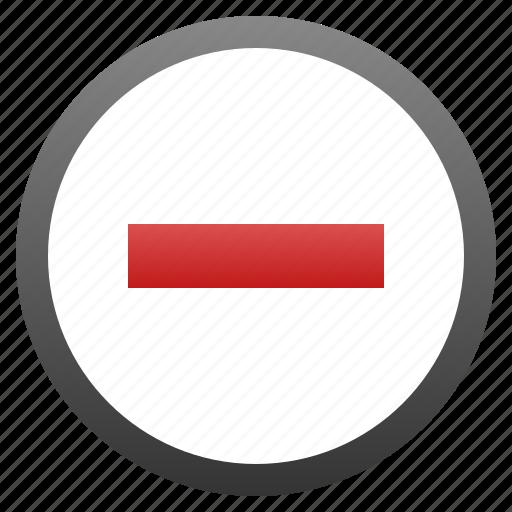 delete, entry, minus, no, no entry, remove, trash icon