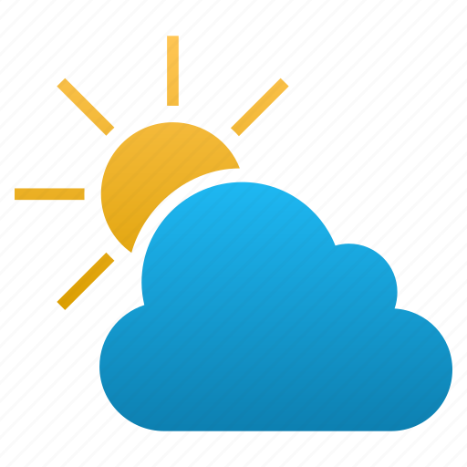 cloud, clouds, forecast, prediction, sun, temperature, weather icon