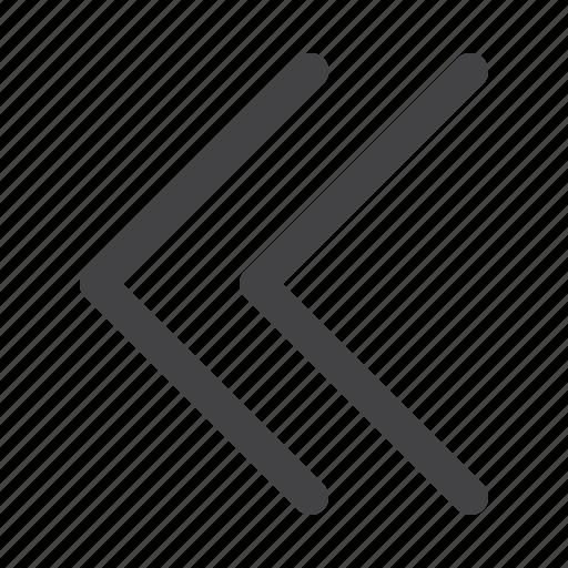 arrow, direction, left, navigation, pointer, rewind, ui icon